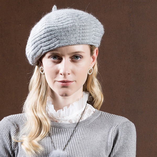 Ladies' Glamourous/Romantic/Vintage Rabbit Hair Beret Hat