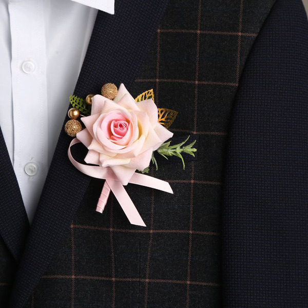 Classic Free-Form Cloth Flower Sets - Wrist Corsage/Boutonniere