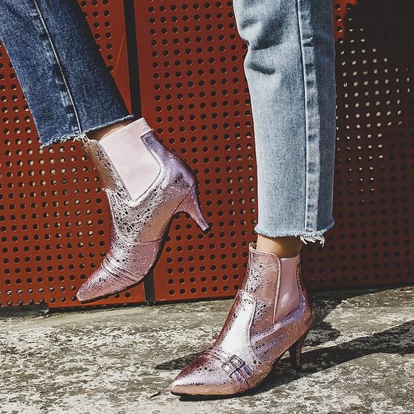 Mulheres Couro Salto agulha Botas sapatos