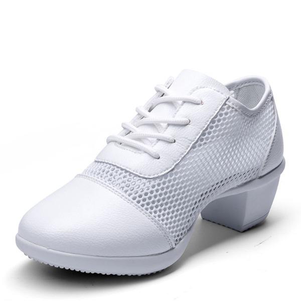 Femmes Similicuir Mesh Modern Style Jazz Baskets Chaussures de danse