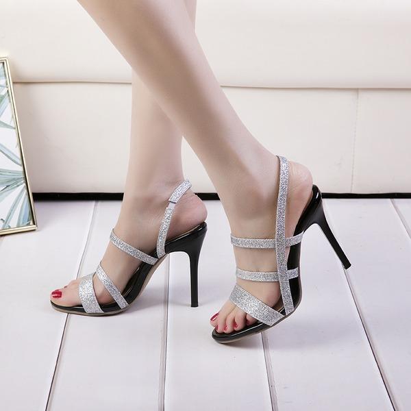 Dla kobiet Skóra ekologiczna Obcas Stiletto Sandały Czólenka Otwarty Nosek Buta Bez Pięty obuwie