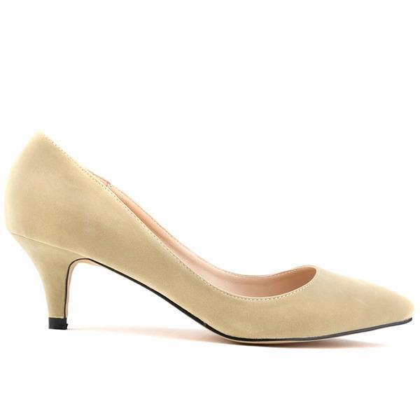 Naisten Mokkanahka Kitten heel Avokkaat Suljettu toe kengät