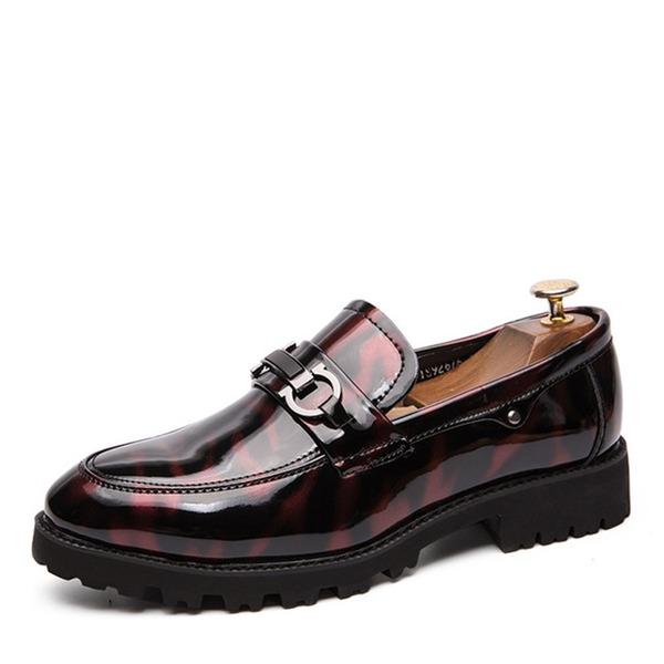 Mannen Patent Leather Horsebit Loafer Casual Kleding schoenen Loafers voor heren