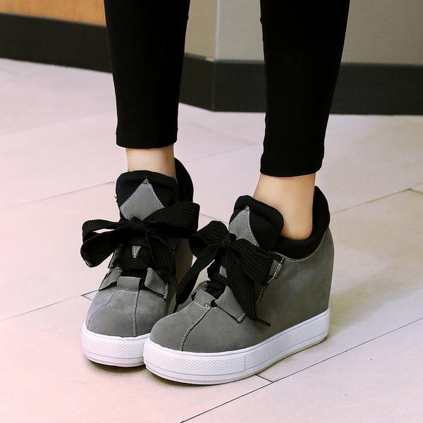 De mujer Ante Tipo de tacón Salón Plataforma con Cordones zapatos