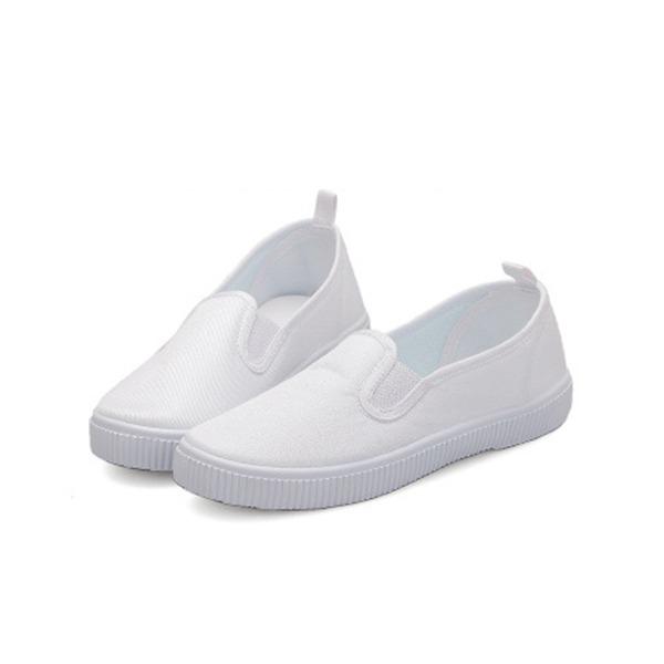 Uniseks Closed Toe Loafers & Slip-Ons Zeildoek Canvas Flat Heel Flats Sneakers & Sportschoenen