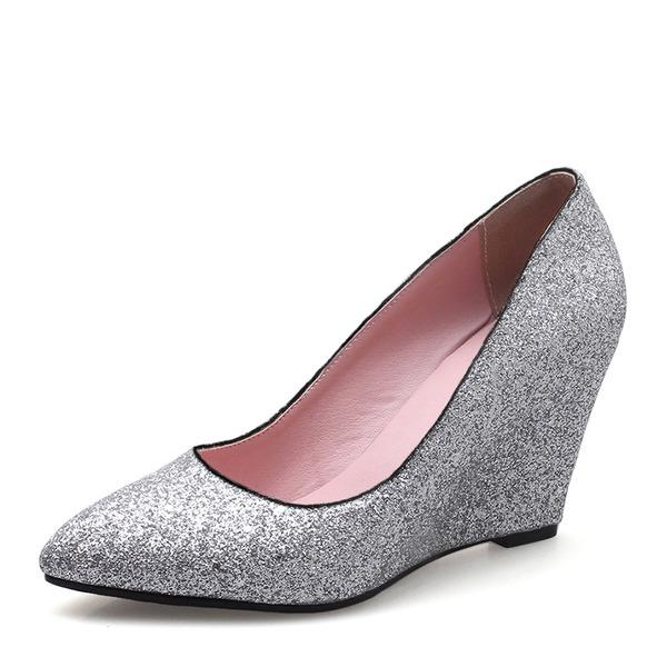 Mulheres Espumante Glitter Plataforma Calços com Outros sapatos