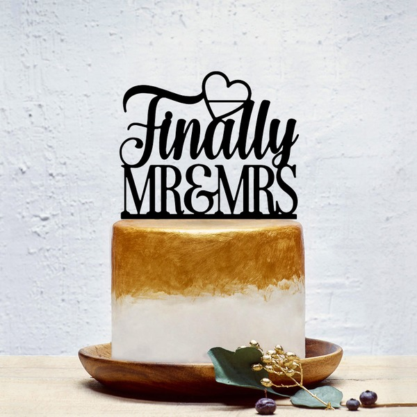 Personalized Classic Couple/Mr. & Mrs. Acrylic Cake Topper