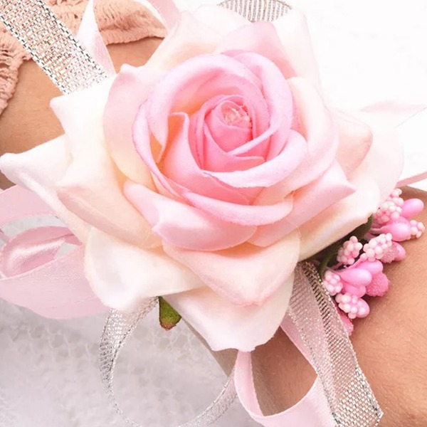 Hand-tied Artificial Flower Wrist Corsage (Sold in a single piece) -