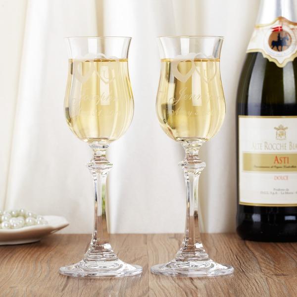personnalisé Verre Flûtes à champagne (Lot de 2)