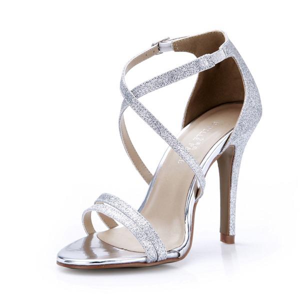 Femmes Pailletes scintillantes Talon stiletto Sandales Escarpins chaussures