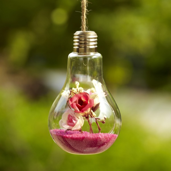 Hanging Bulb Glass Vase