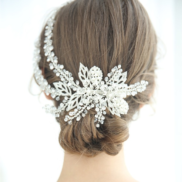Ladies Glamourous Crystal/Rhinestone/Alloy/Imitation Pearls Combs & Barrettes Rhinestone/Crystal (Sold in single piece)