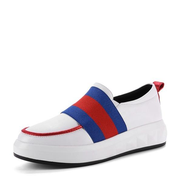 Frauen PU Keil Absatz Flache Schuhe Geschlossene Zehe Keile Schuhe