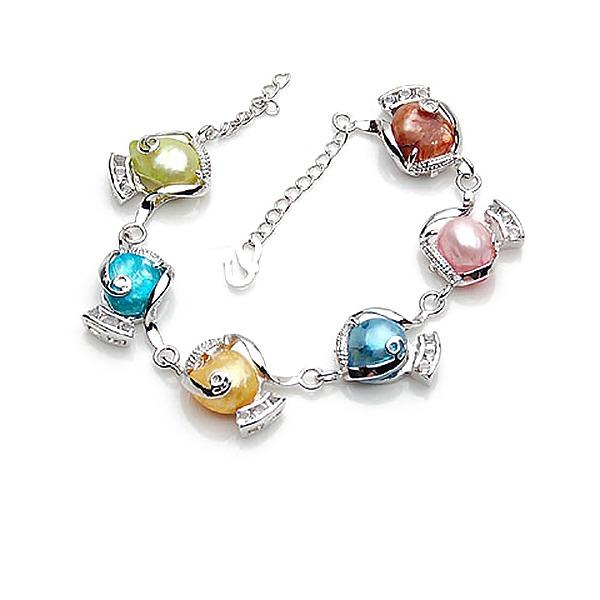 Magnifique Alliage De faux pearl avec Perle d'imitation Femmes Bracelets de mode (Vendu dans une seule pièce)