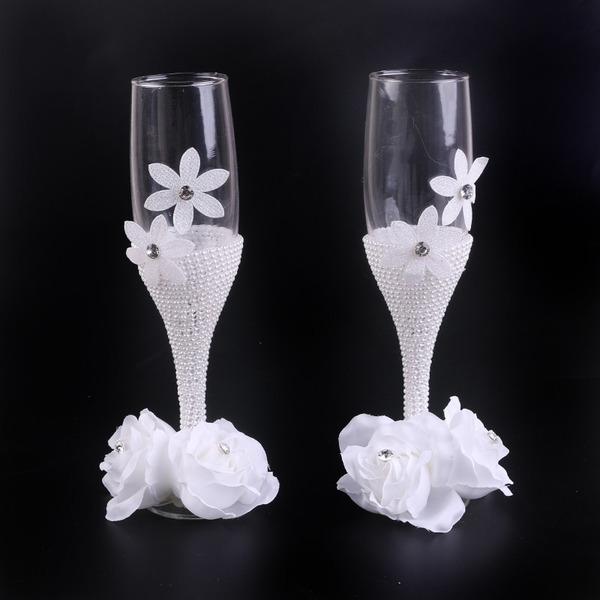Enkel utforming/Klassisk stil Skåle Glass Sett med Bånd bue