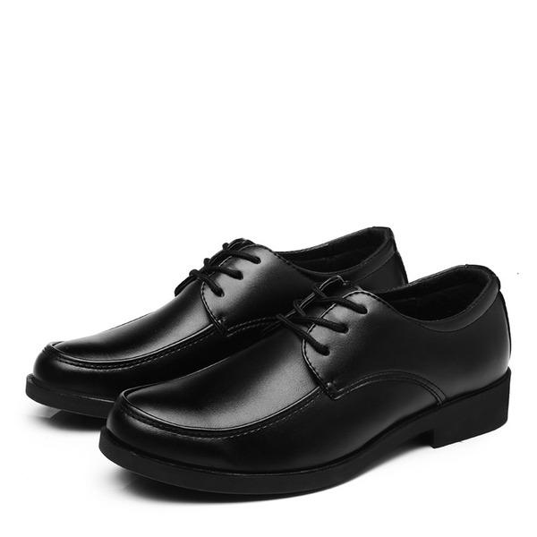 Мужская кожа Cap Toes шнуровка Платья Men's Oxfords
