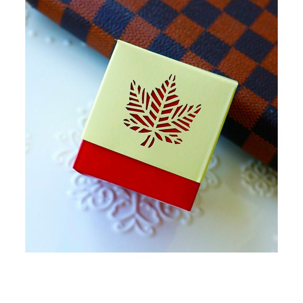 12pcs/set Classic Fall Leaf Favor Box
