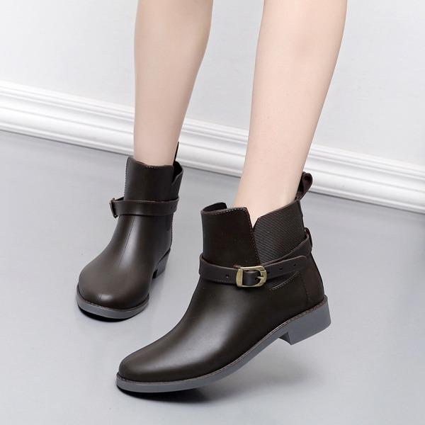 Kadın PVC Alçak Topuk Rain Boots ayakkabı