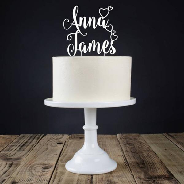 Personalizado Noiva e Noivo Acrílico Decorações de bolos