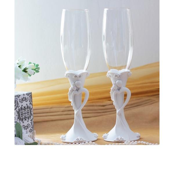 Braut und Bräutigam Entwurf Toasten Flöten