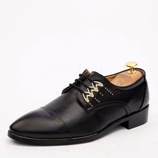 Herren Microfaser Leder Cap Toes Zuschnüren Abendschuhe Herren-Oxford-Schuhe