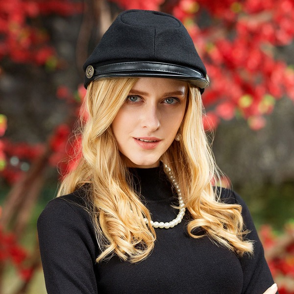 Ladies' Eye-catching Wool Blend Beret Hat