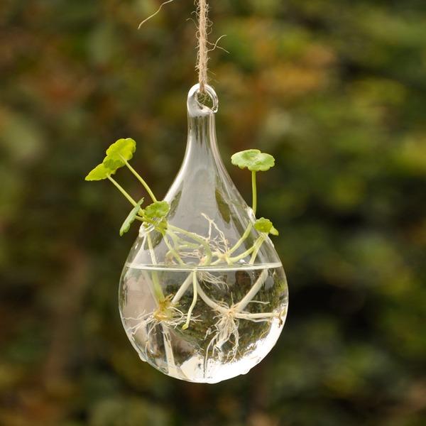 Durchmesser 8cm Schöne Künstlerische schön hängen Glas Vase (In Einem Stück Verkauft)