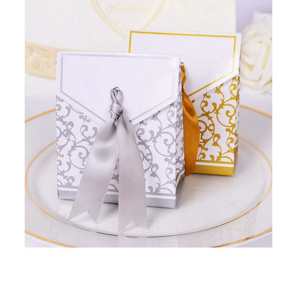 12pcs/set Gold, Silver Wedding Anniversary Favor Boxes