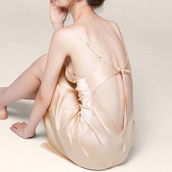 Nupcial/Femenino Elegante poliéster Escotado por detrás Ropa de dormir