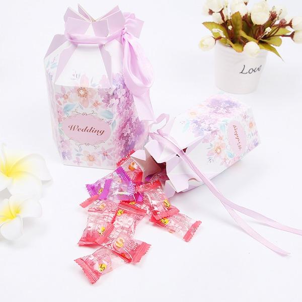 Şeklinde Çanta Inci Kağıt Hediye Kutuları (12 Set)