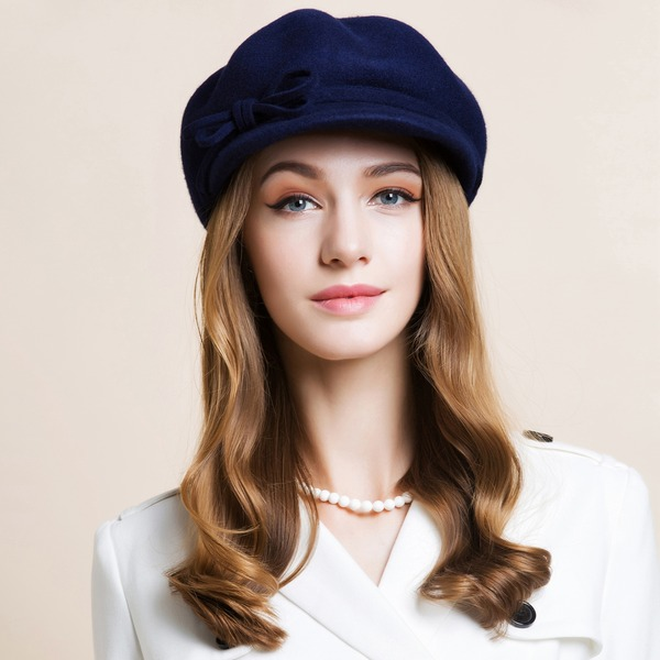 Uniseks Klassieke Herfst/Winter Wol met Bowlingspeler / Glazen kap Hat