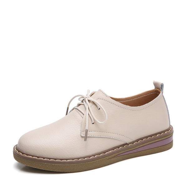 Donna PU Senza tacco Ballerine Punta chiusa con Allacciato scarpe