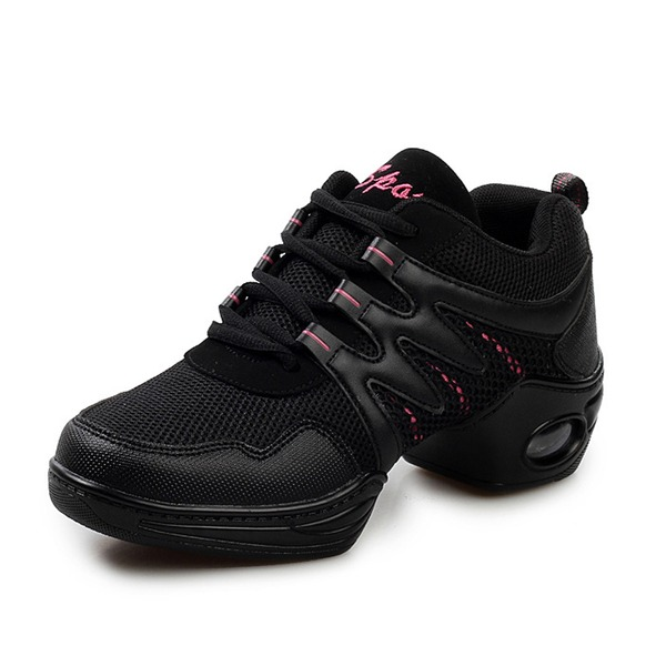 Women's Leatherette Sneakers Sneakers Practice With Lace-up Dance Shoes