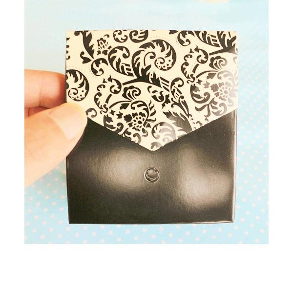 Klassisk stil/Blom-design Blomma mallen Kort papper med Färgband (Set om 12)