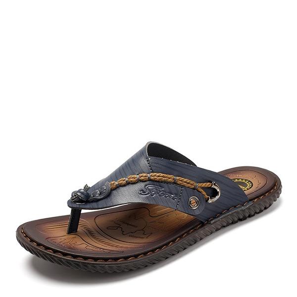 Mannen Echt Leer Casual Pantoffels voor heren