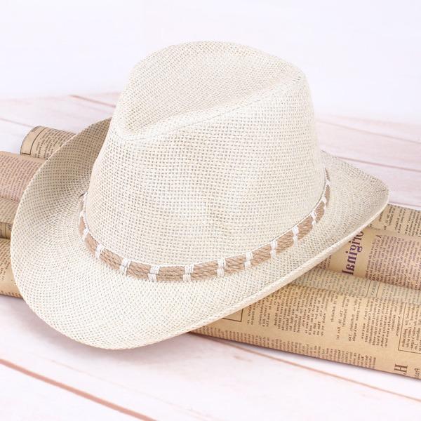 Erkek Glamourous Tuzlu Saman Kovboy şapkası/Kentucky Derby Şapkaları