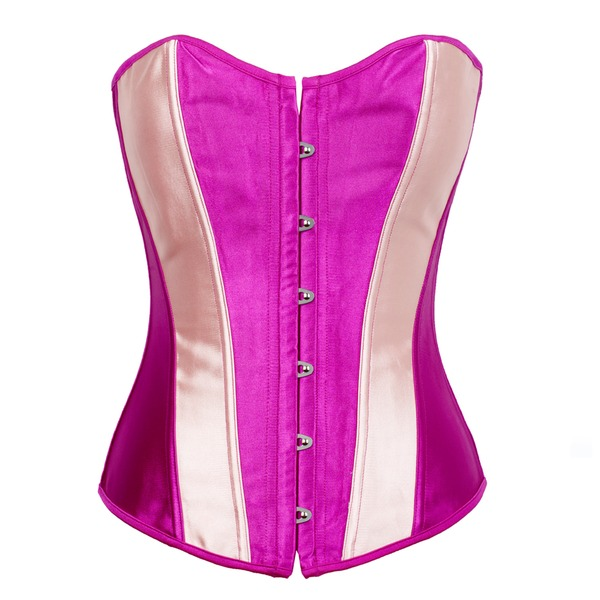 Satin Strapless Lace-Up/Front Busk Closure Shapewear
