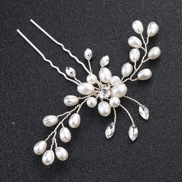 Dame Gorgeous Legering Hårnåle med Venetiansk Perle (Sælges i et enkelt stykke)