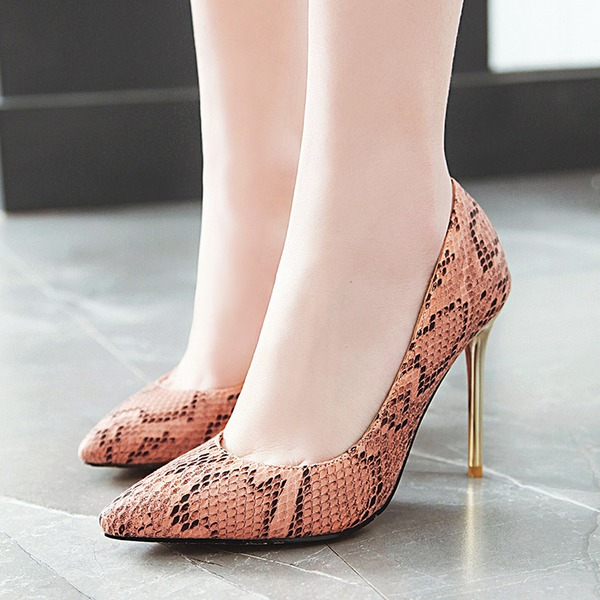 Donna Similpelle Tacco a spillo Stiletto Punta chiusa scarpe