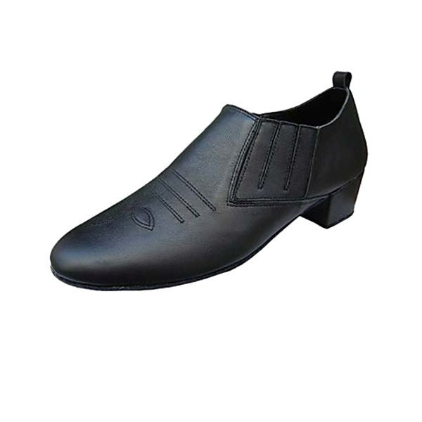 Men's Real Leather Heels Latin Ballroom Practice Character Shoes Dance Shoes