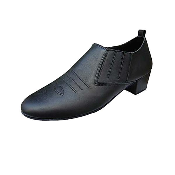 Hommes Vrai cuir Talons Latin Salle de bal Pratique Chaussures de Caractère Chaussures de danse