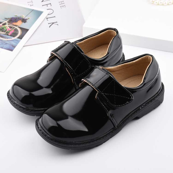 Unisex Round Toe Closed Toe Leatherette Low Heel Flats Sneakers & Athletic Flower Girl Shoes With Velcro