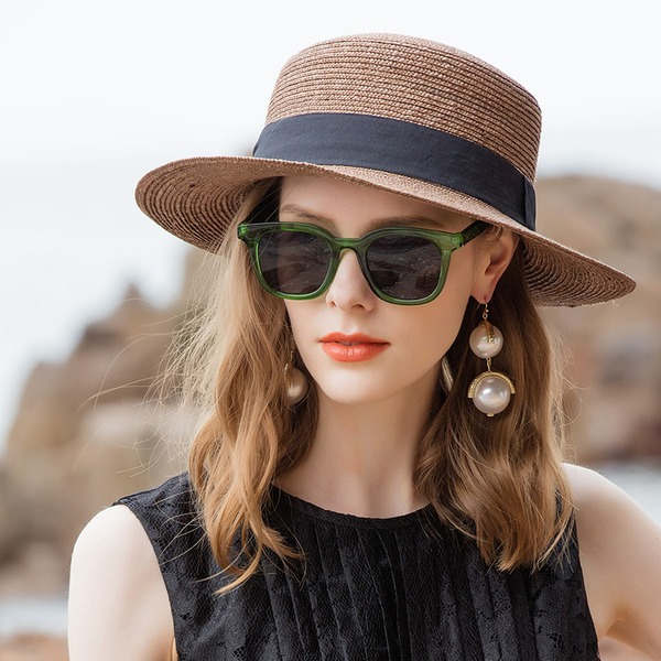 Ladies' Glamourous/Simple Wheat Straw Beach/Sun Hats