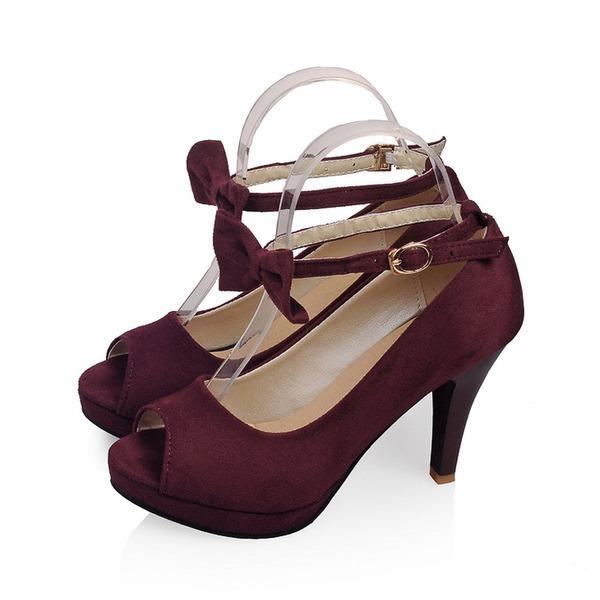 Mocka Stilettklack Sandaler Peep Toe skor