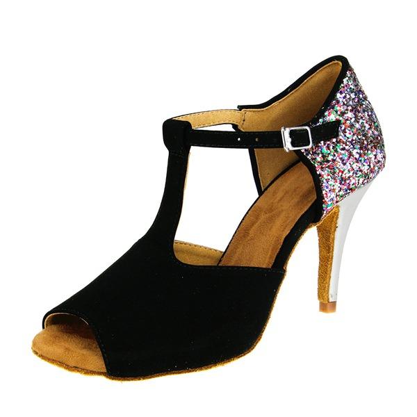 Donna Camoscio Latino Scarpe da ballo