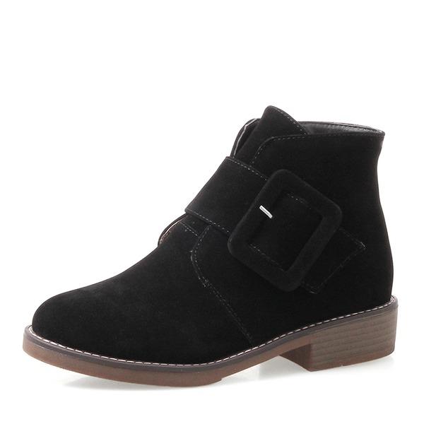 Femmes Talon bas Bottes Bottines avec Boucle Zip chaussures