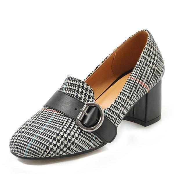 Donna Mesh Tacco spesso Stiletto scarpe