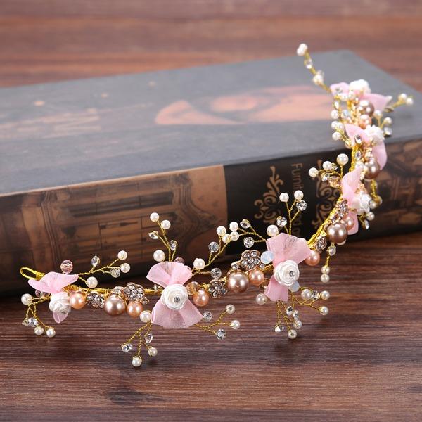 Damen Exquisiten Strass/Legierung/Faux-Perlen Stirnbänder mit Strass/Venezianischen Perle (In Einem Stück Verkauft)