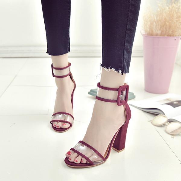 Kvinnor Plast Tjockt Häl Sandaler skor