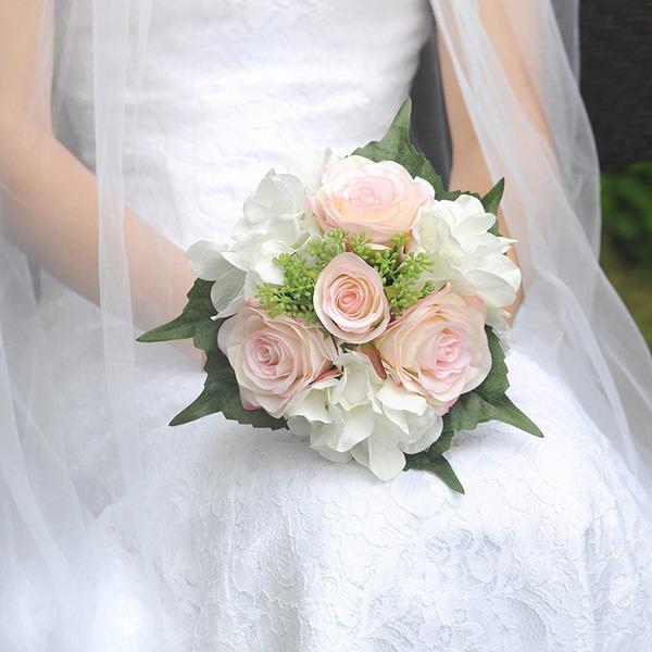 Stile classico Rotondo Raso Mazzi da sposa (venduto in un unico pezzo) -